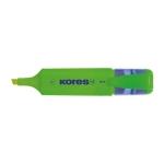 Kores MF3 - Rotulador fluorescente, punta biselada, color verde