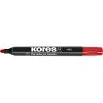 Kores MP2 - Rotulador permanente, punta redonda de 2 mm, color rojo