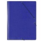 Saro 314 - Carpeta de cartón con gomas, con tres solapas, tamaño folio, color azul