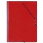 Saro 314 - Carpeta de cartón con gomas, con tres solapas, tamaño folio, color rojo