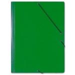 Saro 314 - Carpeta de cartón con gomas, con tres solapas, tamaño folio, color verde