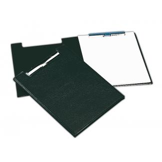 Saro 460-NE - Carpeta portanotas con pinza, plástico, tamaño A4, color negro