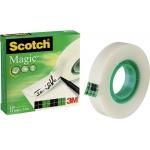 Scotch Magic 810 - Cinta adhesiva, 12 mm x 33 mt, invisible