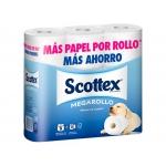 Scottex Megarollo 17204 - Papel higiénico, rollo de 93 mm x 40,8 mt, pack de 9 rollos
