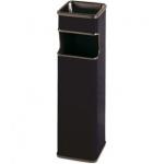 Sie 403-N - Cenicero papelera metálico, color negro