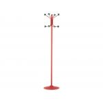 Síe 606-R - Perchero metálico, 8 colgadores, color rojo