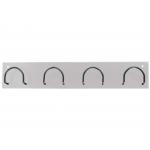 Síe 611-B - Perchero metálico de pared, 4 colgadores, color blanco