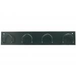 Síe 611-N - Perchero metálico de pared, 4 colgadores, color negro