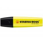 Stabilo Boss 70/24 - Rotulador fluorescente, punta biselada, color amarillo
