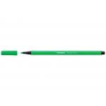 Stabilo Pen 68/033 - Rotulador acuarelable, punta redonda de 1 mm, color verde neón