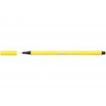 Stabilo Pen 68/24 - Rotulador acuarelable, punta redonda de 1 mm, color amarillo limón