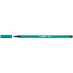 Stabilo Pen 68/36 - Rotulador acuarelable, punta redonda de 1 mm, color verde esmeralda