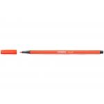 Stabilo Pen 68/40 - Rotulador acuarelable, punta redonda de 1 mm, color bermellón