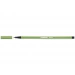 Stabilo Pen 68/43 - Rotulador acuarelable, punta redonda de 1 mm, color verde hoja