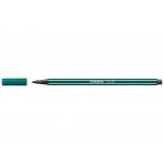 Stabilo Pen 68/53 - Rotulador acuarelable, punta redonda de 1 mm, color azul verdoso