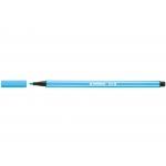 Stabilo Pen 68/57 - Rotulador acuarelable, punta redonda de 1 mm, color azul celeste
