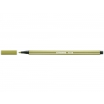 Stabilo Pen 68/63 - Rotulador acuarelable, punta redonda de 1 mm, color verde tierra