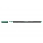 Stabilo Pen 68/836 - Rotulador acuarelable, punta redonda de 1 mm, color verde metalizado
