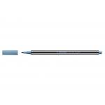 Stabilo Pen 68/841 - Rotulador acuarelable, punta redonda de 1 mm, color azul metalizado