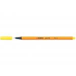 Stabilo Point 88/24 - Rotulador punta de fibra, punta redonda de 0,4 mm, color amarillo limón
