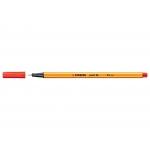 Stabilo Point 88/48 - Rotulador punta de fibra, punta redonda de 0,4 mm, color bermellón