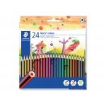 Staedtler Noris Colour 185 C24 - Lápices de colores, caja de 24 colores