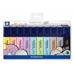 Staedtler Textsurfer Classic 364 CWP10 - Rotulador fluorescente, punta biselada, colores pastel & vintage, bolsa de 10 colores surtidos