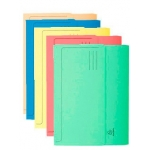 Exacompta 46770E - Subcarpeta de cartulina reciclada, folio, 210g/m2, colores surtidos, con bolsa y solapa