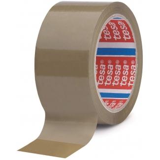 Tesa 04089-00006-06 - Cinta adhesiva para embalar, 50 mm x 66 mt, polipropileno, marrón