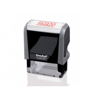 Trodat Printy 4911 - Sello automático, texto impreso (pagado)