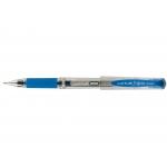 Uni-Ball UM-153 Signo Broad - Bolígrafo de tinta de gel, punta redonda de 1 mm, sujeción de caucho, color azul